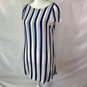 Reformation Short Sleeve striped Mini dress